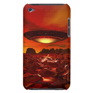Alien spacecraft over an alien planet, computer iPod touch case