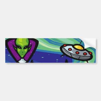 Alien Spaceship Bumper Stickers