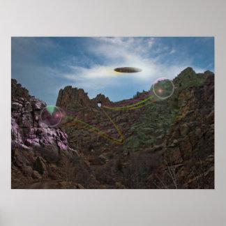 Alien Spaceship Colorado Canyon Poster