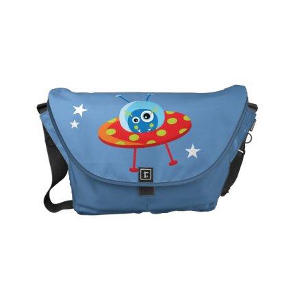 Alien Spaceship Courier Bag