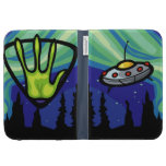 Alien Spaceship Kindle Folio Case