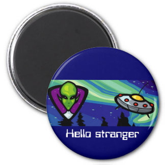 Alien Spaceship Magnet