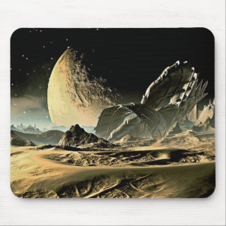 Alien Spaceship Mouse Pad