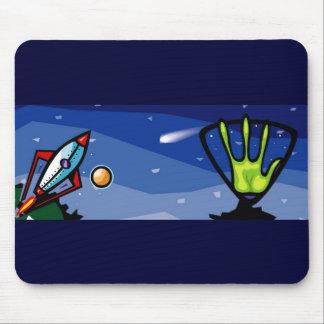 Alien Spaceship Mouse Pad