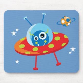 Alien Spaceship Mousepad mousepad