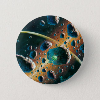 Alien Spaceship Pinback Button