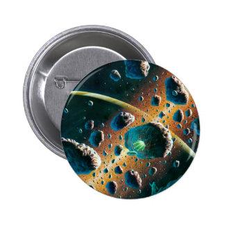 Alien Spaceship Pinback Button