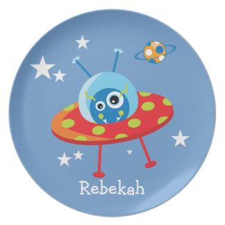Alien Spaceship Plate