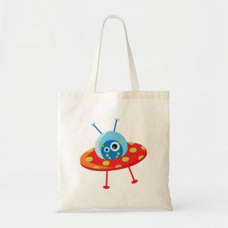 Alien Spaceship Tote Bag