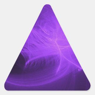 alien spaceship triangle sticker