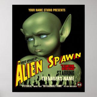 Alien Spawn B-Movie Customizable Poster