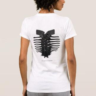 Alien Spine Implant Ladies Destroyed T-shirt