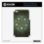 Alien Spore Abstract Fractal Design Decal For iPod Touch 4G