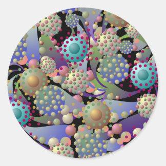 Alien Spores and Blossoms Sticker