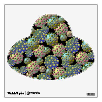 Alien Spores UFO Wall Decal