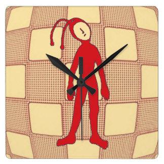 Alien Square Wall Clock