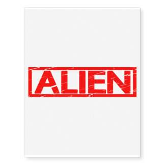 Alien Stamp Temporary Tattoos