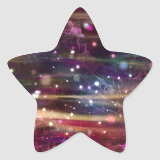Alien Star Sticker