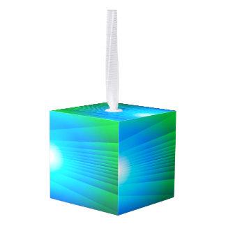 Alien Sunset Cube Ornament