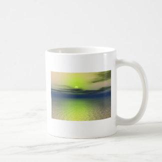 Alien sunset classic white coffee mug