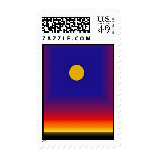 Alien Sunset Postage Stamps