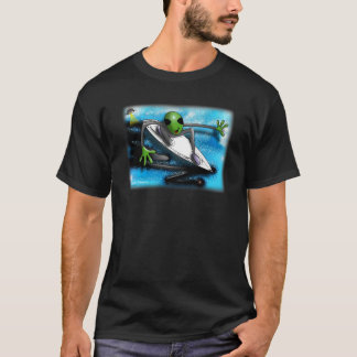 Alien Surfer by Gregory Gallo T-Shirt