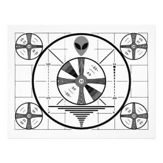 Alien Test Pattern Flyer