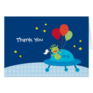 Alien Thank You Note Card