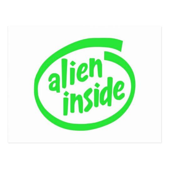 Alien themed postcard