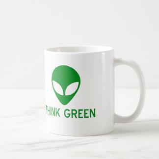 Alien Think Green Mug