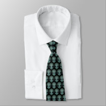Alien Ties Gifts Cute Alien Necktie Alien Art Gift