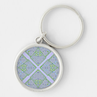 Alien Tiles Diamonds Kaleidoscope Keychain