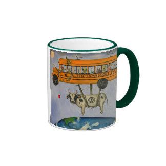 Alien Transport System Ringer Coffee Mug