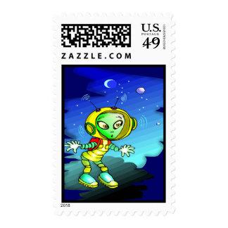 Alien Traveler Stamps