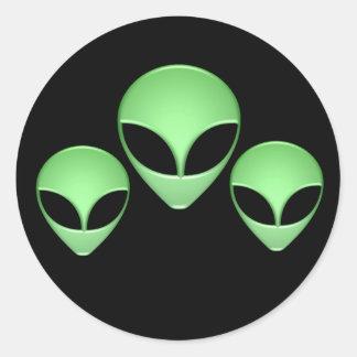 Alien Trio Black Sticker