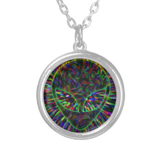 Alien Trip Silver Plated Necklace