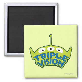 Alien Triple Vision 2 Inch Square Magnet