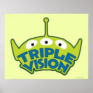 Alien Triple Vision Poster