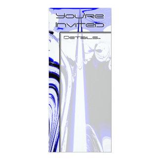 Alien Tropics - Fractal Art Design. Blue and White Card