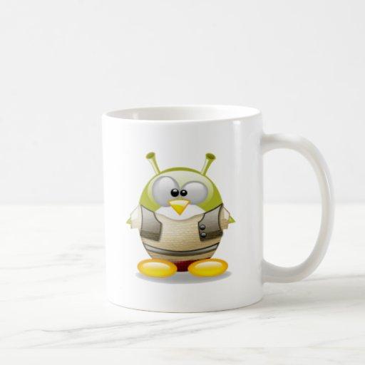 Alien Tux Classic White Coffee Mug
