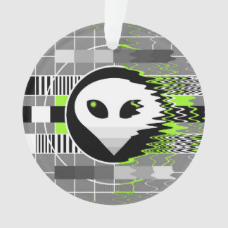 Alien TV acrylic ornament