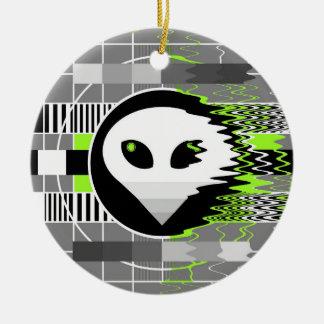 Alien TV ceramic ornament