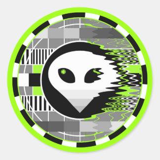 Alien TV Round sticker