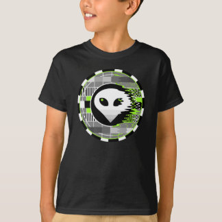 Alien TV Round t-shirt kids' basic black
