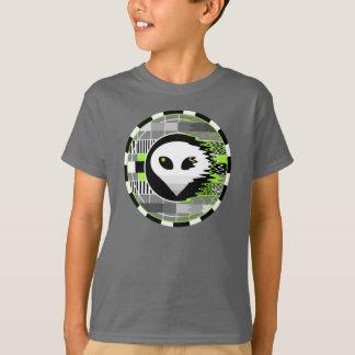 Alien TV Round t-shirt kids' basic grey