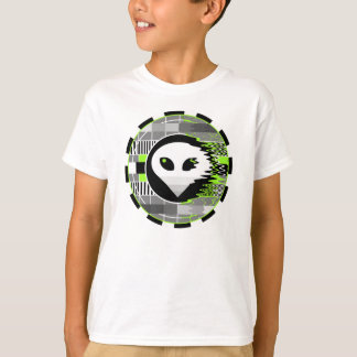 Alien TV Round t-shirt kids' basic white