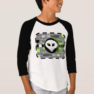 Alien TV t-shirt kid's 3/4 sleeve raglan