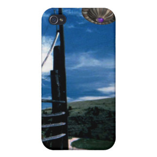 Alien UFO abduction over fence iPhone 4 Cover
