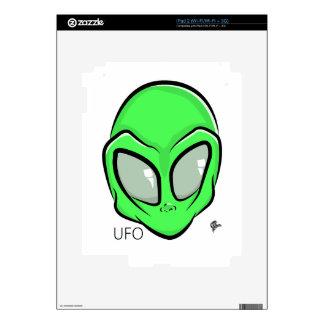 Alien UFO Extraterrestrial Cartoon GFX Decals For iPad 2