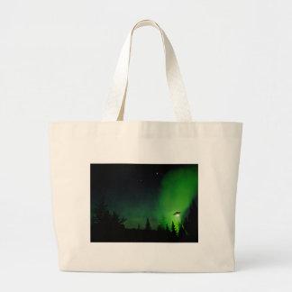 Alien UFO in Alaskan Sky Canvas Bag